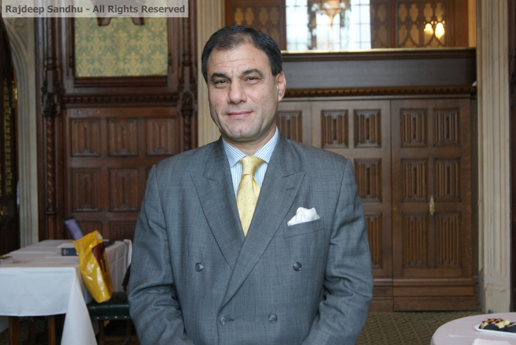 Newly-elected Chair, Lord Bilimoria